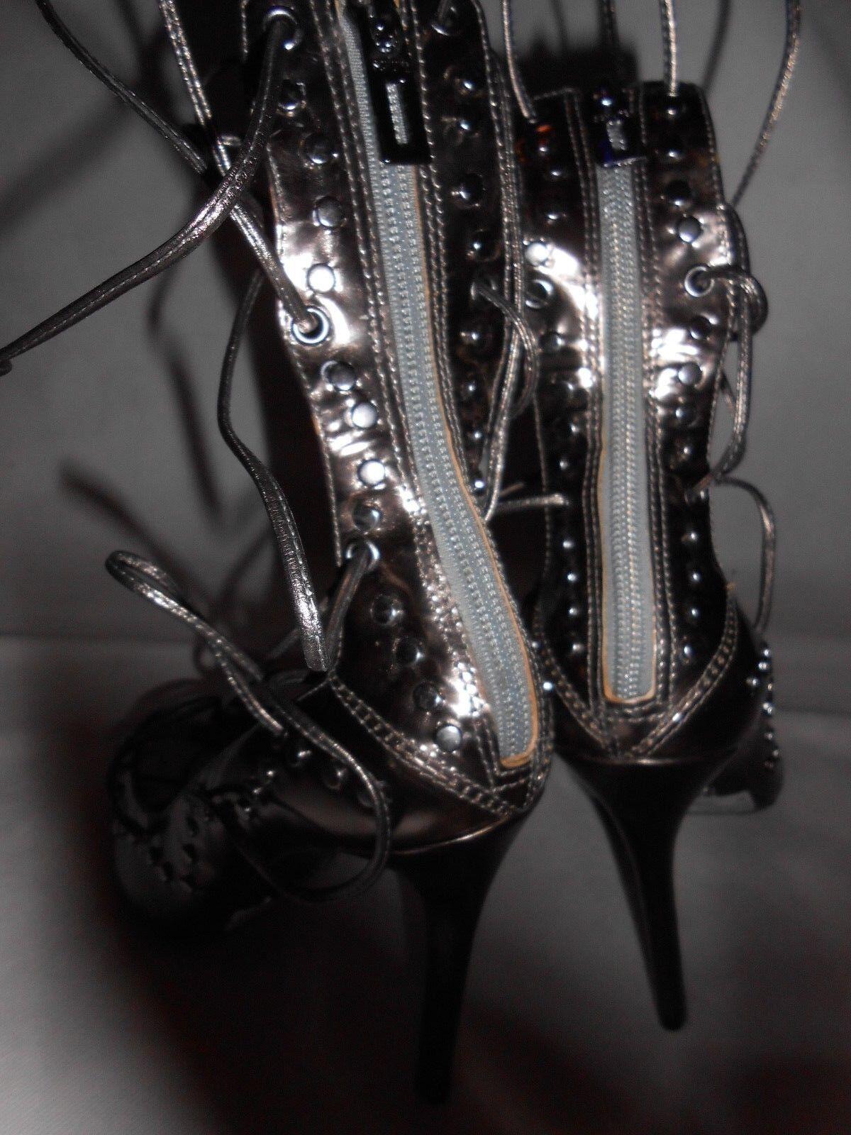 Nouveau Schutz Métallique Cuir lanières Chaussures à lanières Cuir