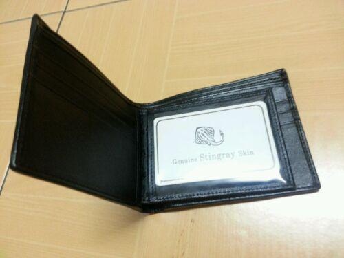 STINGRAY SKIN MEN WALLET PURSE BAG CASE BLACK GOOD QUALITY FINE STITCHED EXPORT