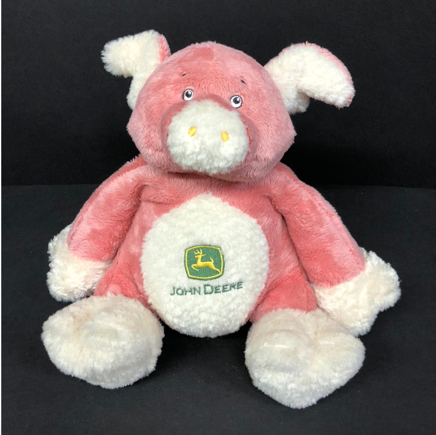 John Deere Rosa Plush Musical Pig Toy Rare Lights Up Sings