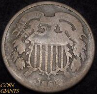 1864 Two Cent Piece 2c CIVIL WAR 180 Degree Rotated Reverse Philadelphia Mint