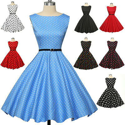 CHEAP! Vintage Retro Swing 50's 60's Housewife Pinup Cocktail Party Prom Dresses