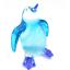 Penguin #2 hand blown clear glass miniature figurin crystal dollhouse animal