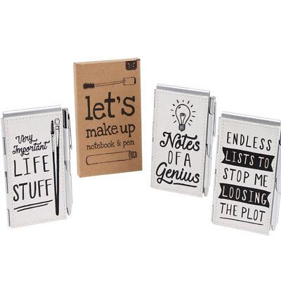 Ladies Handbag Compact Notebook /& Pen Gift Set Endless Lists Life Stuff