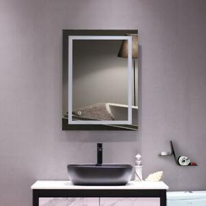 Antifog Vanity Bathroom Touch Mirror Led Light Wall Mounted 32 X 24 Us Ebay