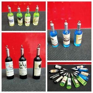 20pcs-Jewelry-Findings-Black-Color-Red-Wine-Bottle-Shaped-Resin-Pendant-Charms