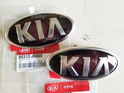 Bright Carbon Front /& Rear Trunk Lid KIA Logo Badge 2P KIA K9 K900 Quoris 2018+