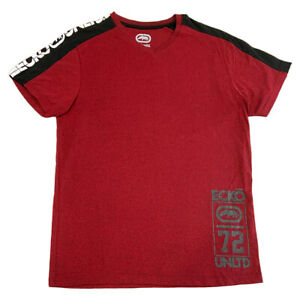 NWT-ECKO-UNLTD-LOGO-AUTHENTIC-MEN-039-S-RED-V-NECK-SHORT-SLEEVE-T-SHIRT