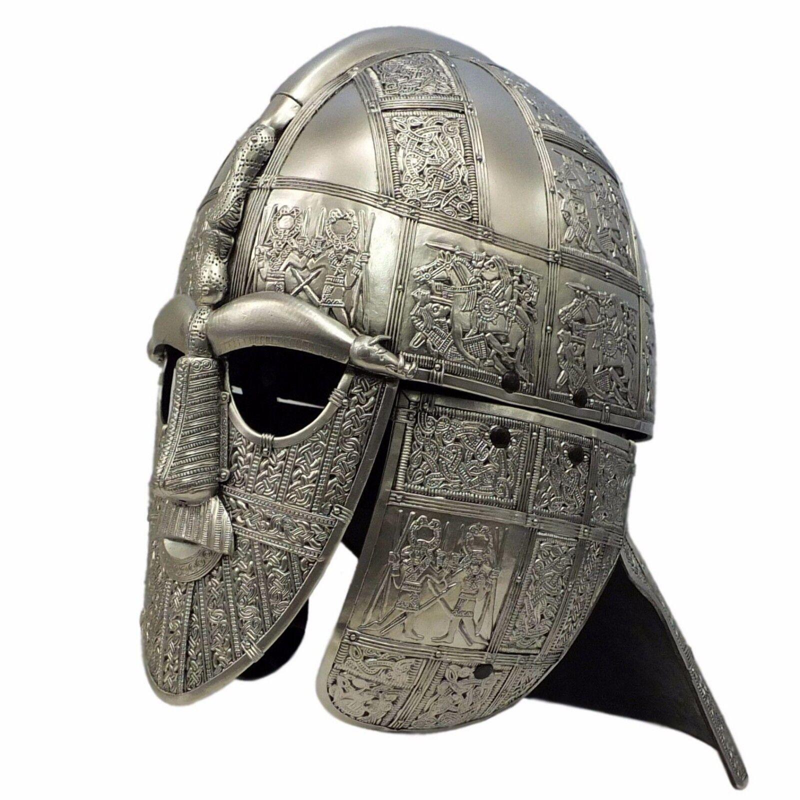 Anglo Saxon wyrmwick Poliuretano LARP Armadura Casco Sutton Hoo