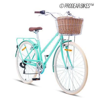 NEW Progear Bike Retro Classic Vintage Cruiser Ladies Pomona Bicycle Shimano7spd