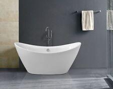 BW-IX060 170x78x78 cm Freistehende Badewanne aus Acryl Wanne mit Ab- / Überlauf
