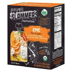 2-Go Gourmet Organic SLAMMERS cuire Superfood Snack Epic 2-Packs