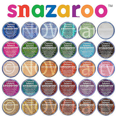 18ml Snazaroo Classic White Face /& Body Paint Fancy Dress Halloween Make up