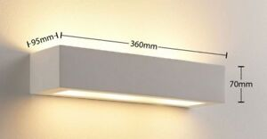 Applique in gesso lampada a parete moderno per lampadine led ebay