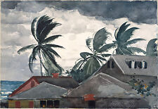 Winslow Homer Watercolor Reproductions: Hurricane, Bahamas: Fine Art Print