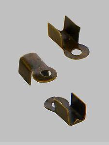 LOT DE 120 EMBOUTS CACHE NOEUD A ECRASER PLIER METAL DIFFERENTE COULEUR 10 x 4mm