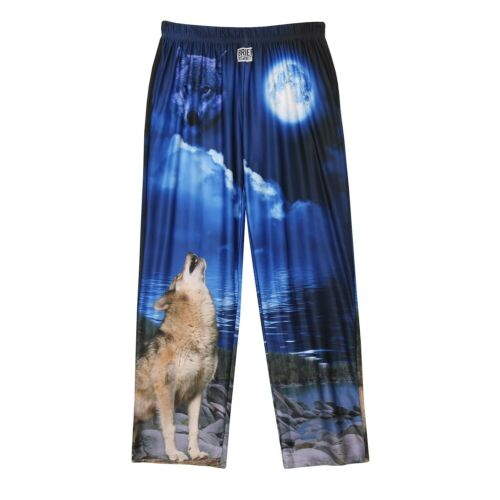 American Mills Men/'s Howling Wolf Lounge Pants Realistic Print Pajama Pants