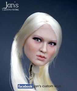 "1//6 Blonde Hair Emily Baby Doll Female European Actress Head Sculpt F 12/"" Figure"