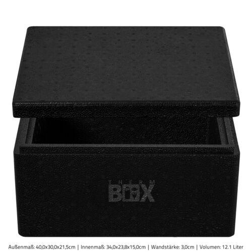 Polystyrène Boxe sélection 1 à 80 L noir Isolierbox Thermobox Styroporbox Glacière