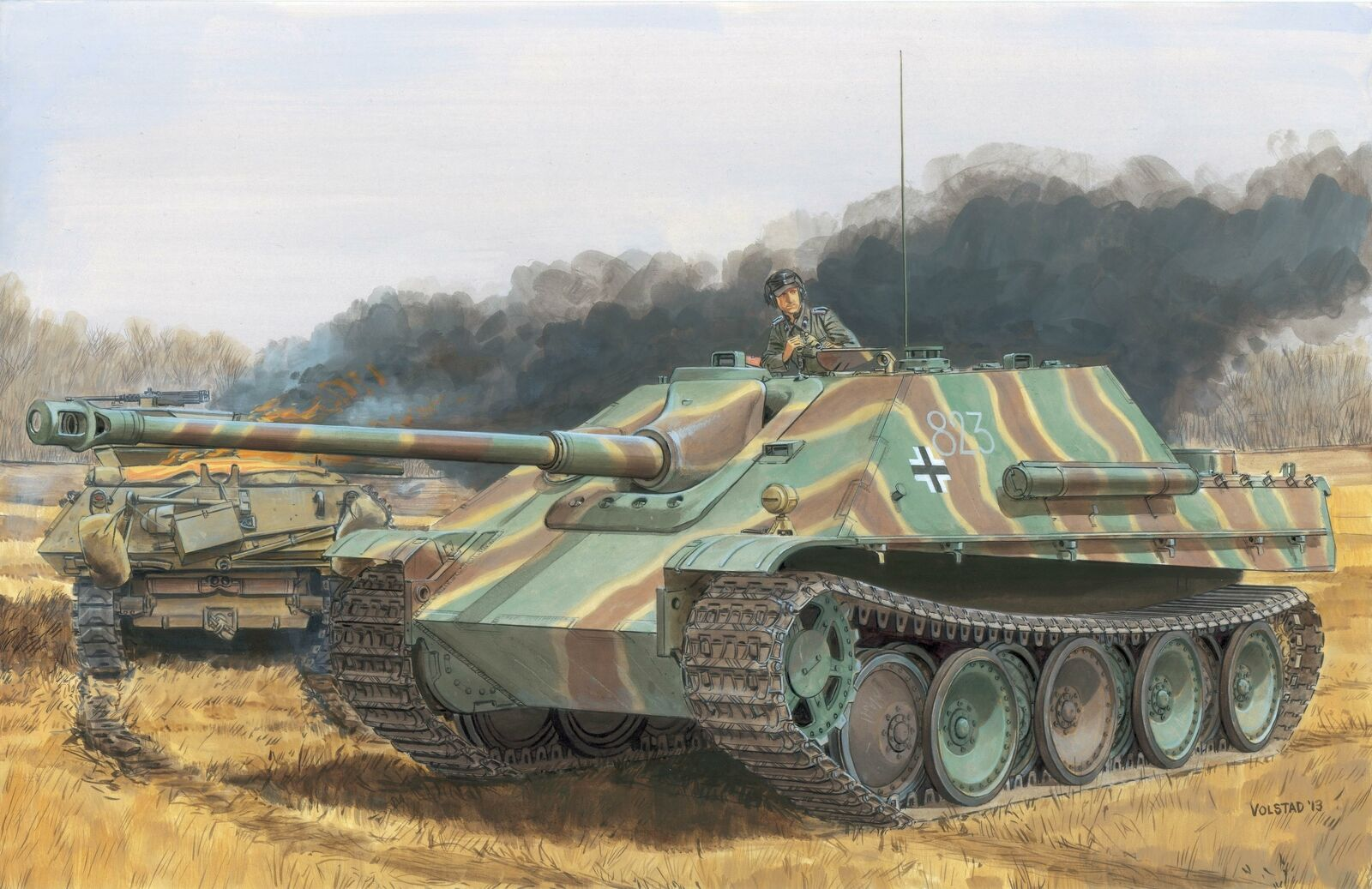 Jagdpanther G1 Late  G2 2in1 Tank 1 35 Plastic modello Kit DRAGON modelloS