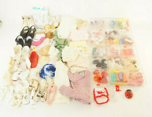 Huge-Vintage-Lot-of-Doll-Accessories-Clothes-Shoes-Hats-amp-More-100-039-s-of-Pieces