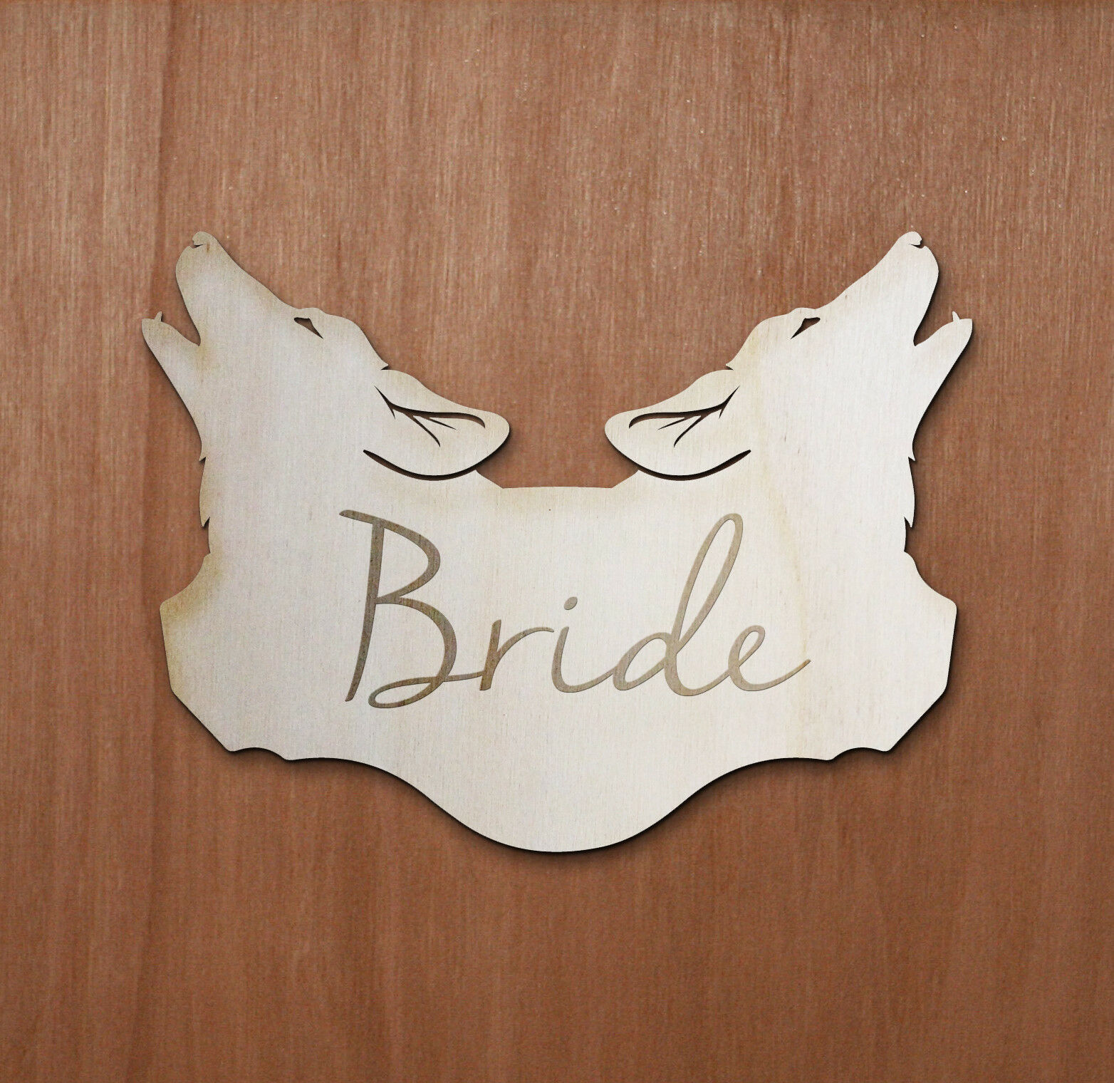 Personalised Wolf Game of thrones wooden Wedding Name Place Cards Anniversary