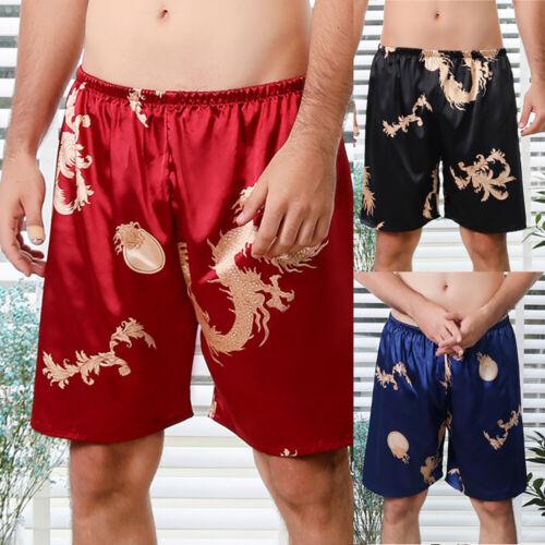Bequem Shorts Hosen Lounge Boxer Herren Zuhause Drachendruck Loungewear