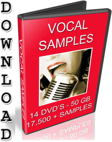 WAV FILES // MP3 18,000 VOCAL SAMPLES ACAPELLA- SONG LYRICS- 50 GB DOWNLOAD
