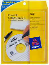 Avery Erasable Cd Dvd Labels For Use With Any Permanent Marker 7228