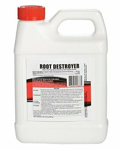 Drain Sewer Root Killer Pipe Septic Line Plumbing Tree Safe Copper Sulfate 32Oz