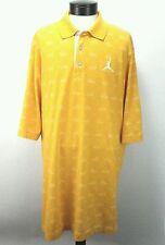 NIKE Men's JORDAN Polo Shirt AJ Retro Yellow Shoe Print AIR JORDAN Size 3XL