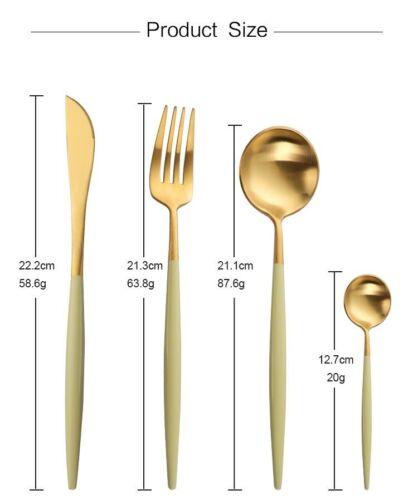 Acier Inoxydable 18//10 couverts cuillère fourchette couteau Dinnerware Portugal vaisselle 4PC
