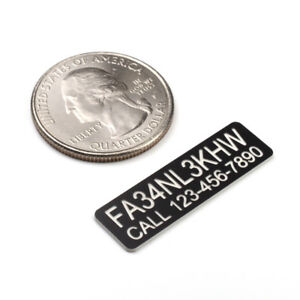 FAA DRONE REGISTRATION /& TELEPHONE NUMBER TAG STICKER ENGRAVED