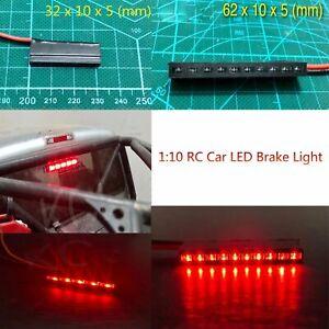 1-10-RC-Modelo-Coche-LED-Luz-de-Freno-Lampara-Para-Axial-SCX10-TRX4-D90-Tamiya