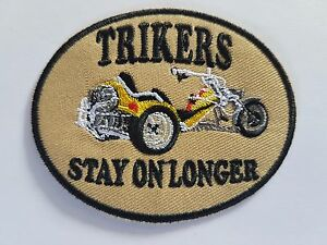 Trikers-Stay-On-Longer-Biker-Iron-on-patch-Sew-on-transfer-Embroidered-New