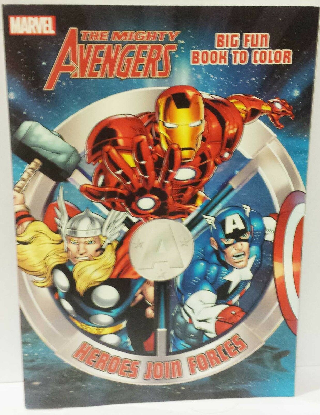 Marvel Avengers Iron Man Thor Captain America New Coloring Book New ...