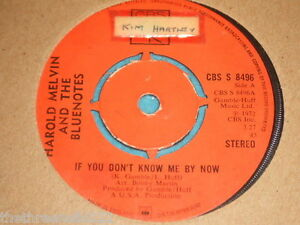 VINYL-7-034-SINGLE-HAROLD-MELVIN-IF-YOU-DON-039-T-KNOW-ME-BY-NOW-CBS-S-8496