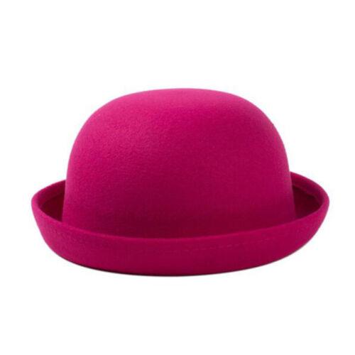 Winter Autumn Women Lady Wool Pearls Solid Caps Fashion Wide Brim Fedora Hats