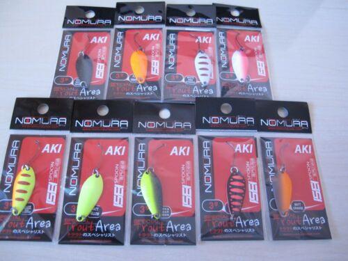Nomura Isei Aki 1.4 g 3 g Fishing Micro Spoons Trout 9 pcs.Double Spoon Perch