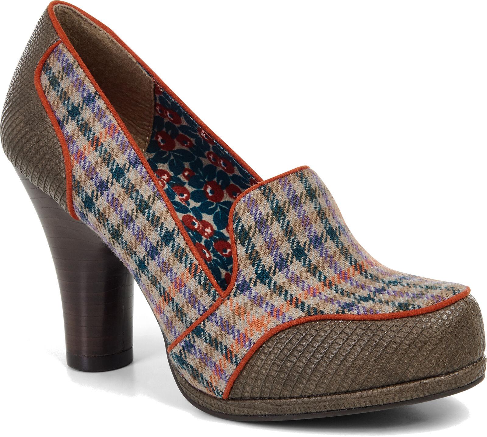Ruby Shoo KAYLEE Wool Houndstooth Vintage Wool KAYLEE Classic Retro PUMPS Rockabilly b2da2d