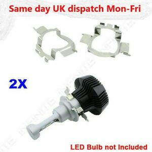 2X H7 LED Headlight Bulb Retainers Holder Adapter For Benz  Audi VW Buick * UK