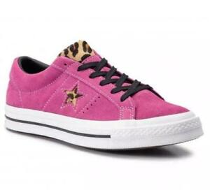 Converse Leopard One Scarpe Wm's 9 Pink Hair grezze Pony Star Faux scamosciate Fuchsia Nwteac5d28c1f1511d513db14f24eb56870 35AjL4Rq