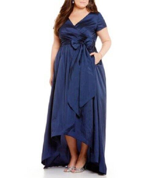 Adrianna Papell Plus Hi-Low Taffeta Gown (Size 22W)