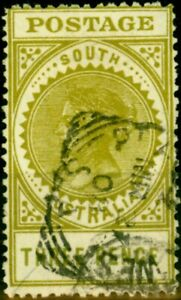 South-Australia-1906-3d-Sage-Green-SG298-Fine-Used