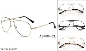 3f87b2b766d High Quality Metal Frame Aviator Clear Lens Eye Glasses Retro ...