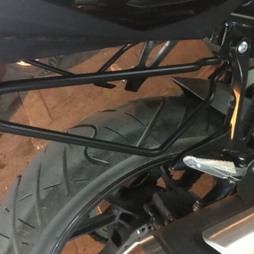 1Pair Motorycle Bracket Bars Rack Saddle Pannier Bag Spacer Support Mount Steel