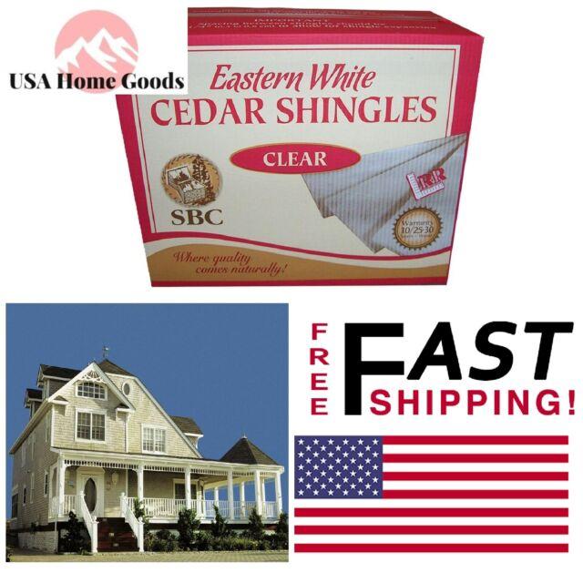 16 In Safari Beige Eastern White Cedar Shingle Siding 25