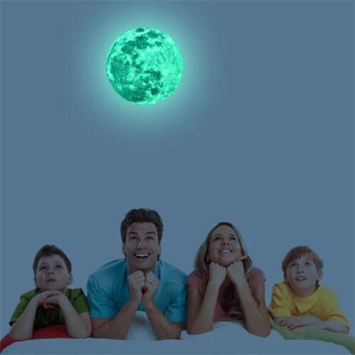 20cm Luminous Moon Earth Cartoon DIY 3D Wall Stickers for Kids Room Bedroom Glow