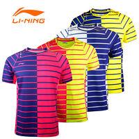 2017 Li Ning Men's Tops Table Tennis Clothing Badminton Only T-shirt