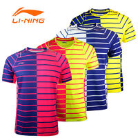 2017 Li Ning Men's Tops Table Tennis Clothing Badminton Only T-shirt