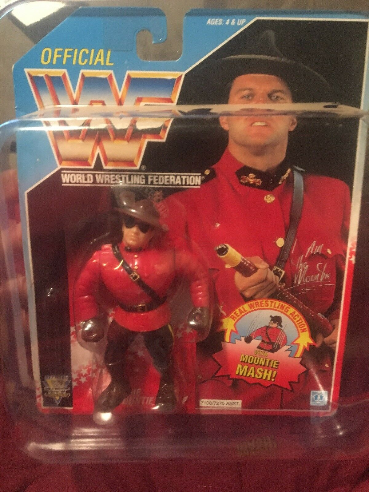 WWF The Mountie Wrestling Hasbro Figure Carded WWE 1992